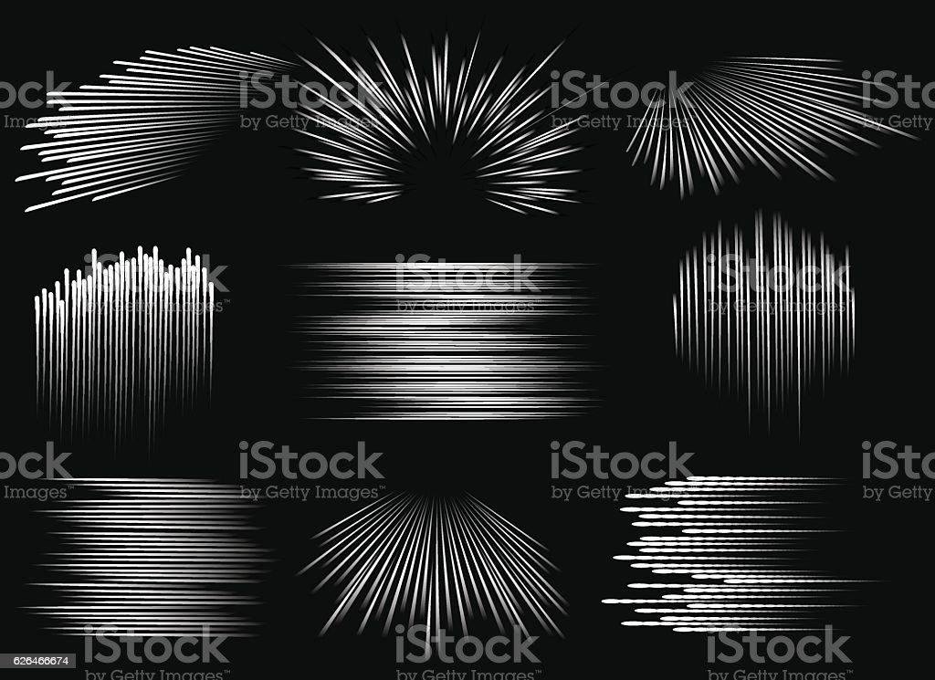 Abstract speed line patterns vector art illustration