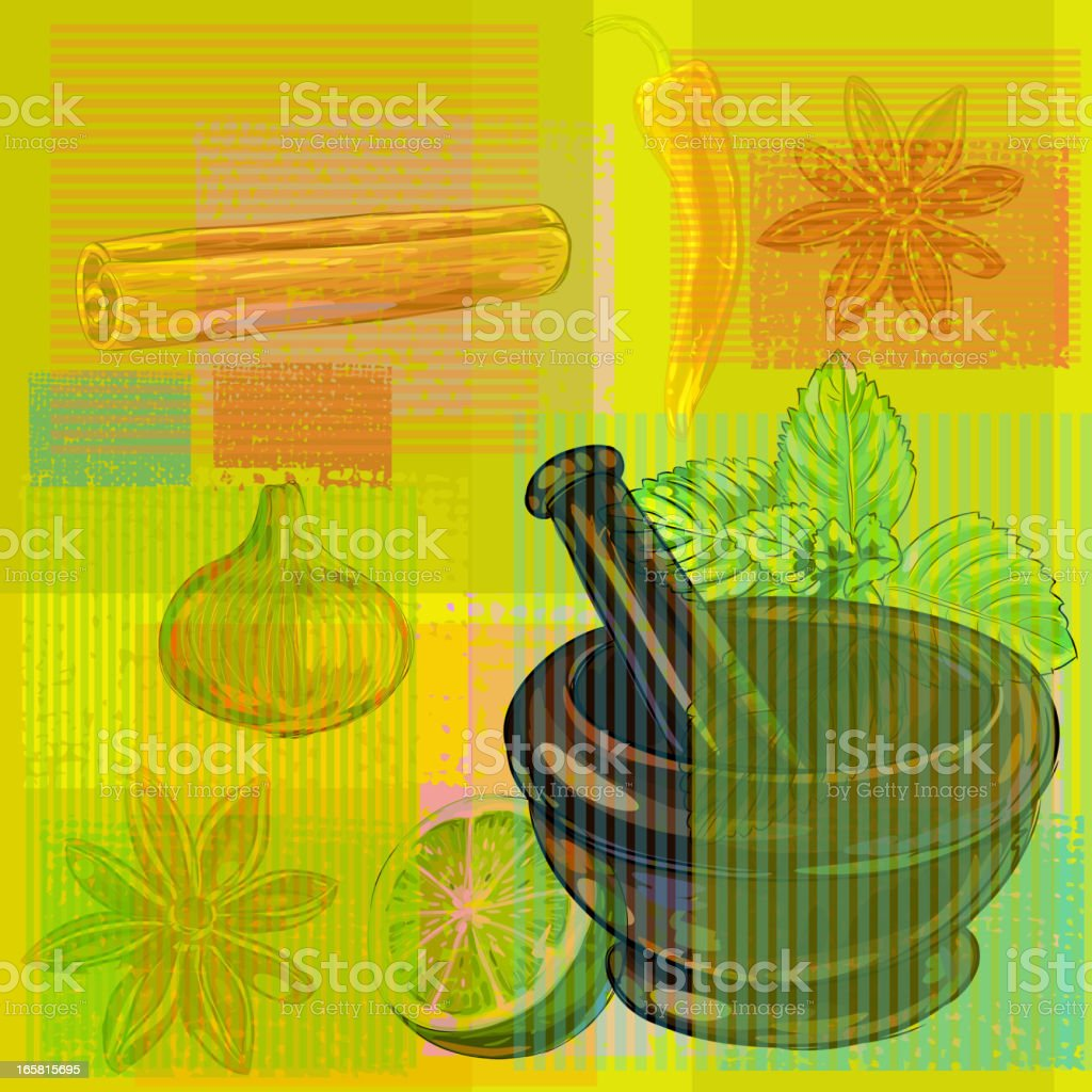 Abstract Spices Background vector art illustration