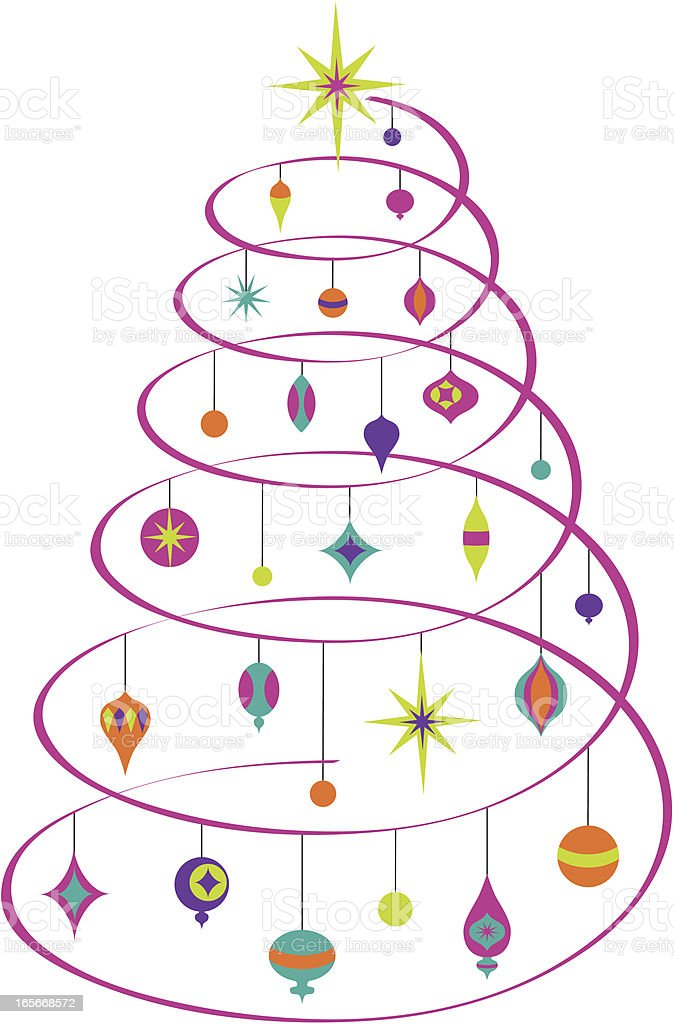 Abstract Spiral Christmas Tree royalty-free stock vector art