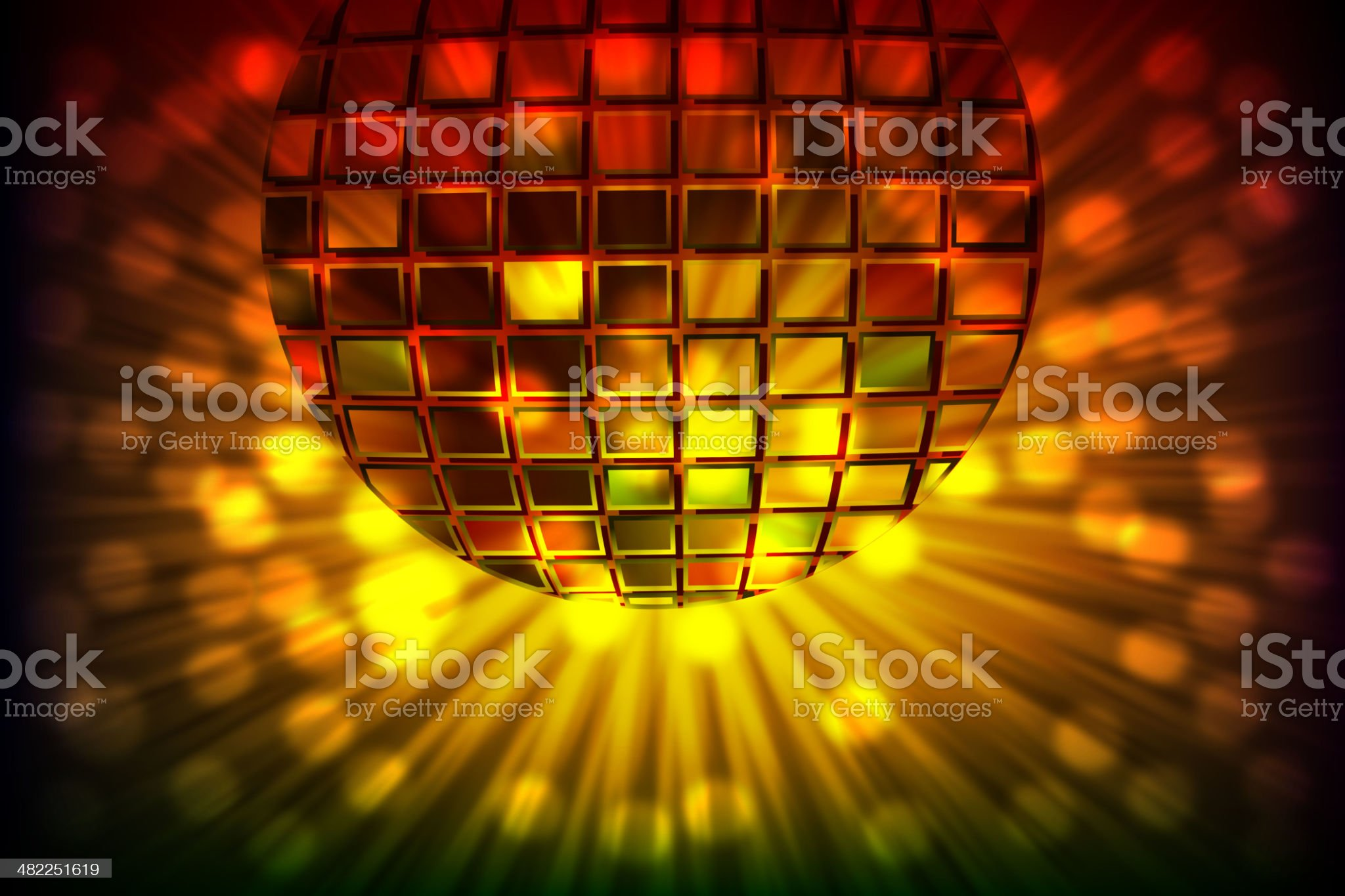 Abstract Splashy Background with Disco ball royalty-free stock vector art