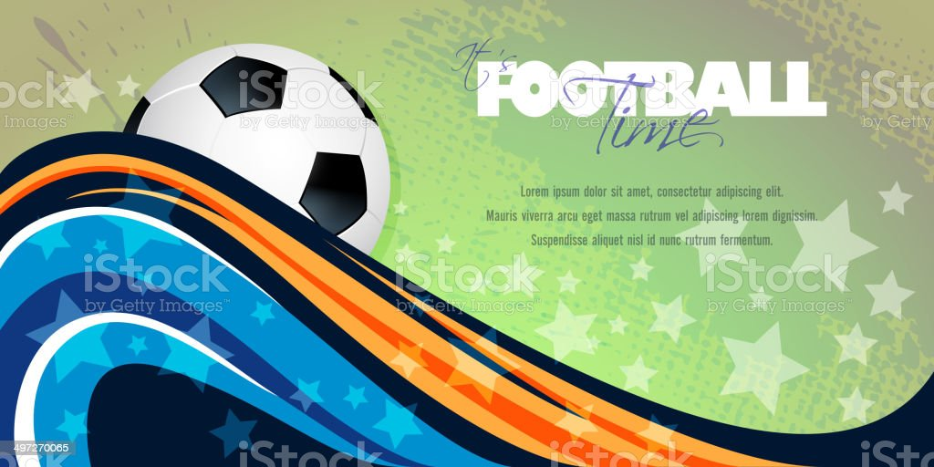 Abstract Sports Banner with Copy space royalty-free stock vector art