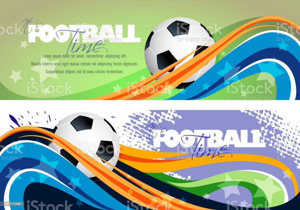 Abstract Sports Banners with Copy space royalty-free stock vector art