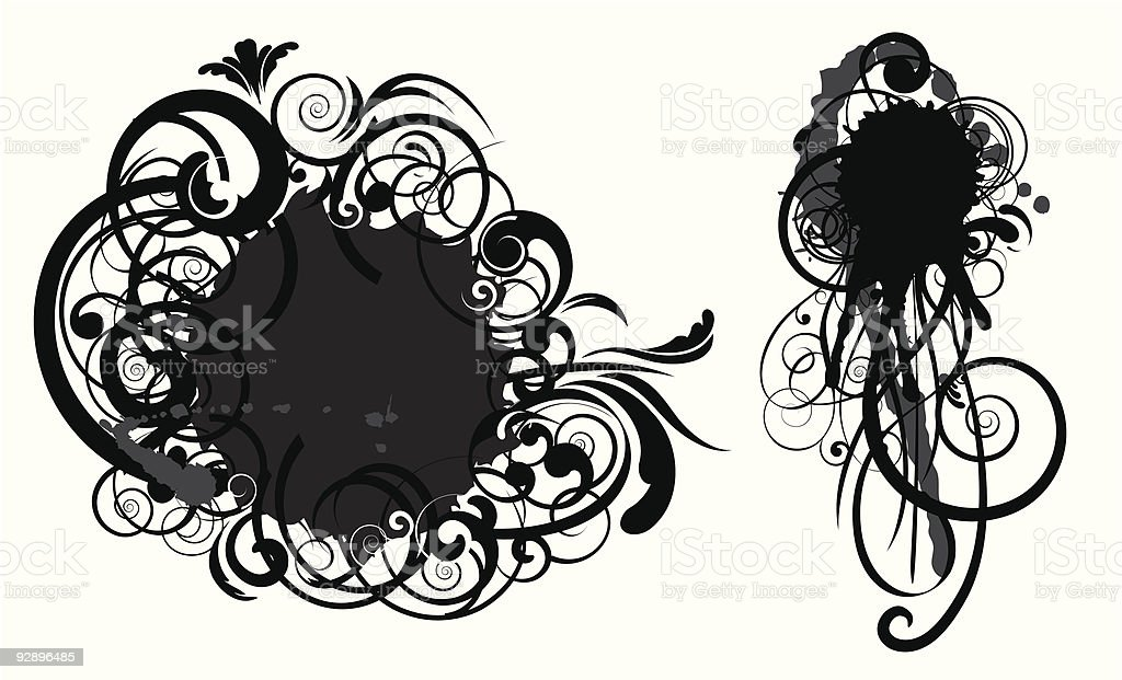 Abstract spot swirl design royalty-free stock vector art