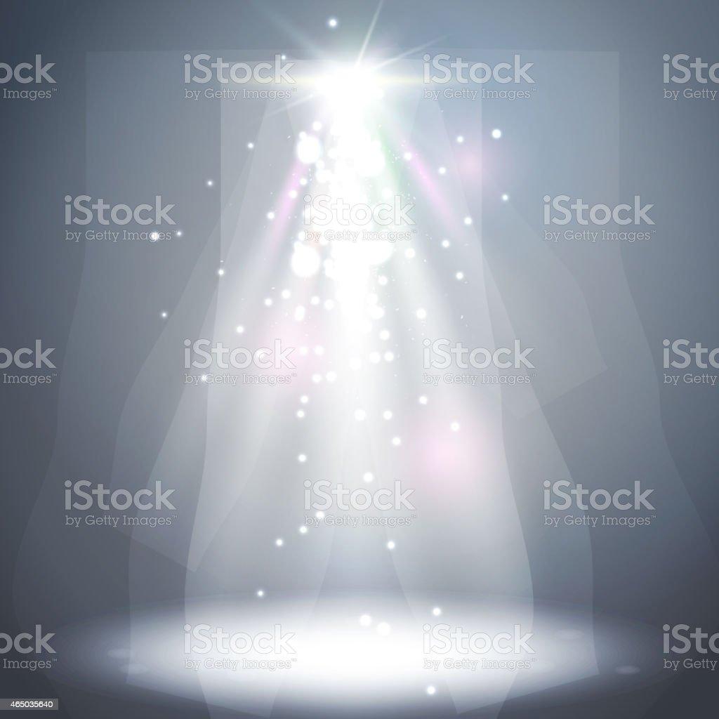 Abstract  spotlight background. vector art illustration