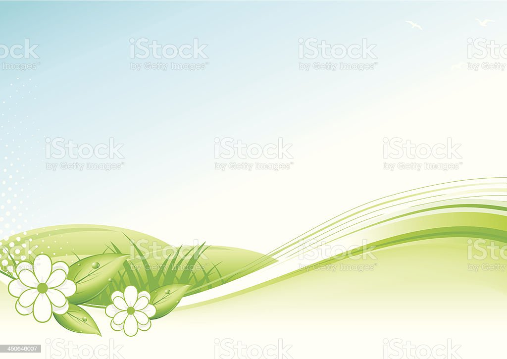 Abstract Spring and Summer Background vector art illustration