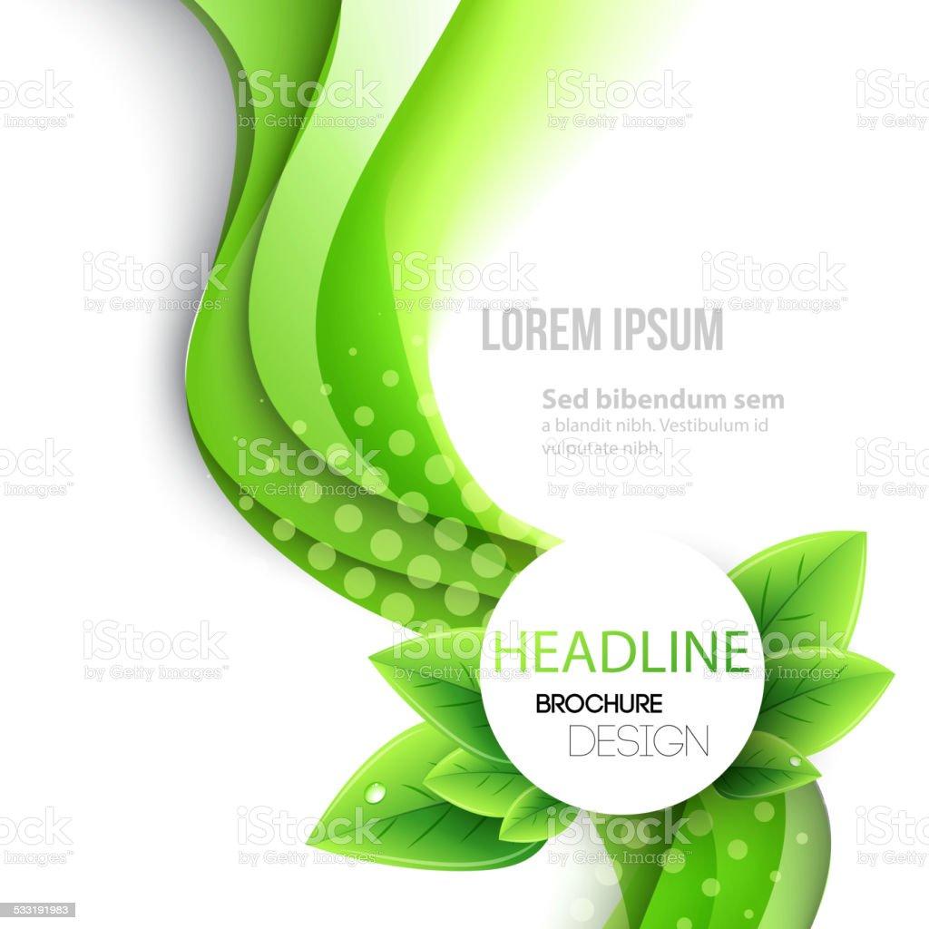 Abstract spring background. Template brochure design vector art illustration