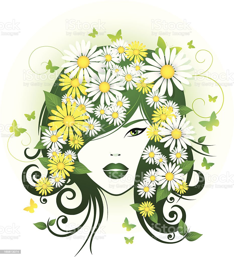 Abstract Spring Girl royalty-free stock vector art