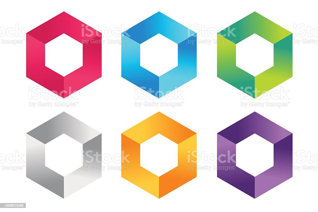 Abstract square icon vector template vector art illustration