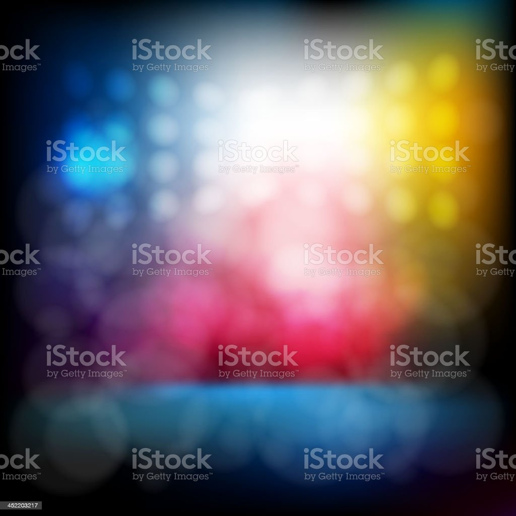 Abstract Stage lights vector art illustration
