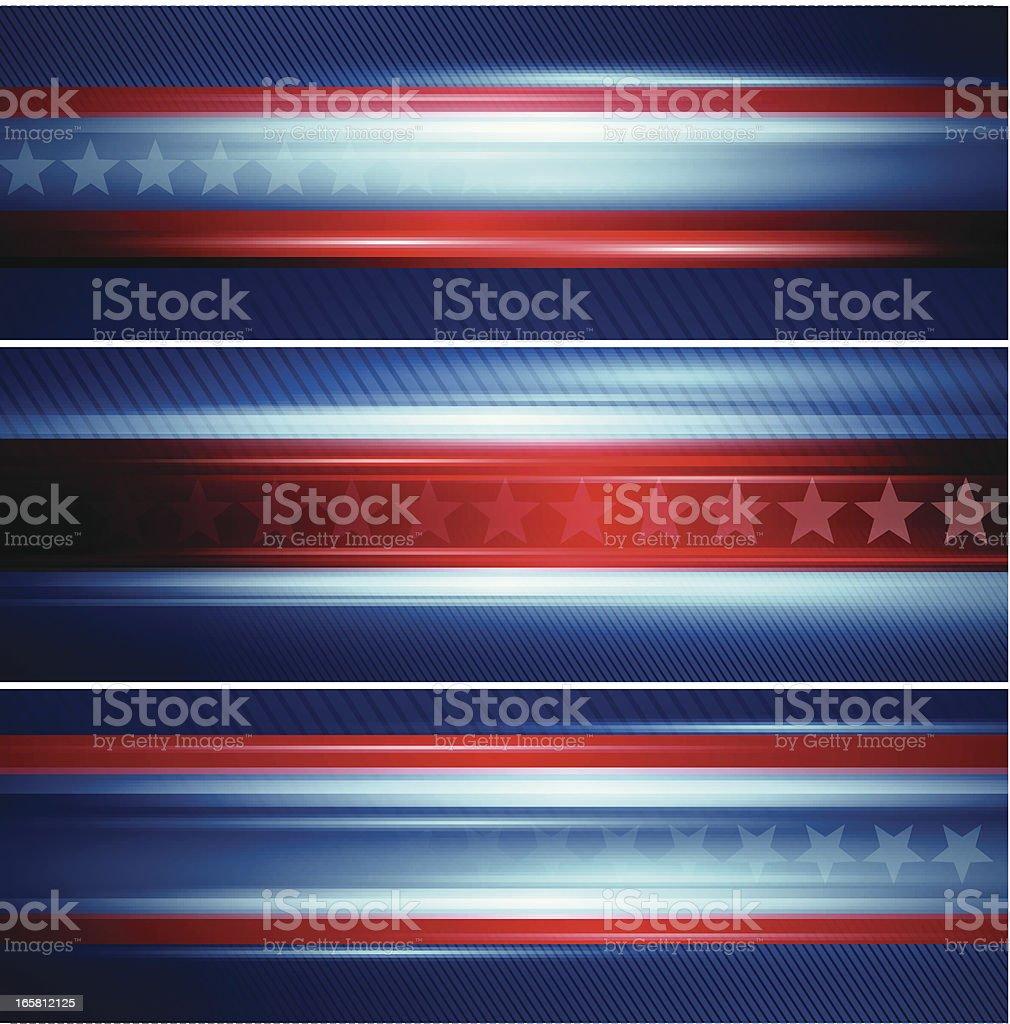Abstract star banner vector art illustration