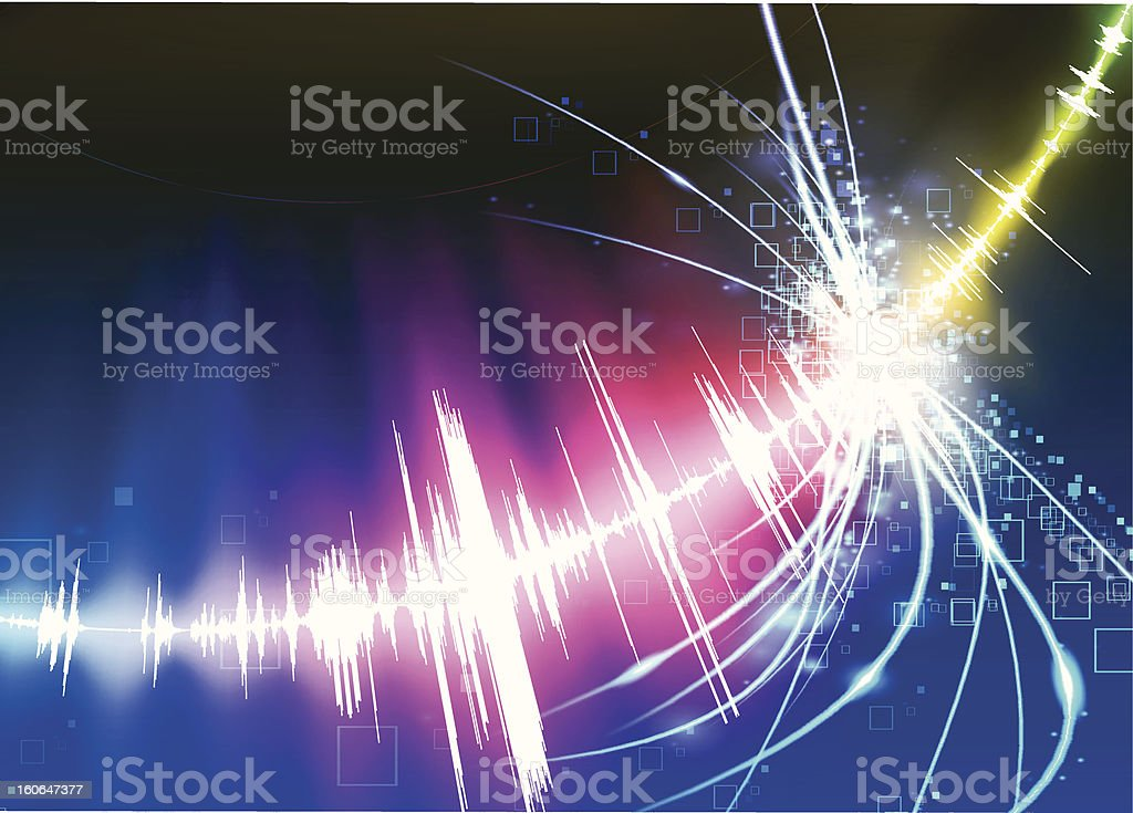 Abstract Star Burst Background royalty-free stock vector art