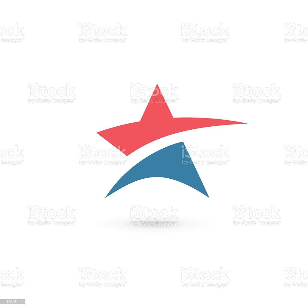 Abstract star icon design template elements vector art illustration