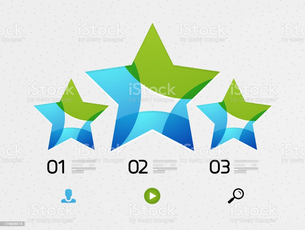 Abstract star infographic with numbers royalty-free stock vector art