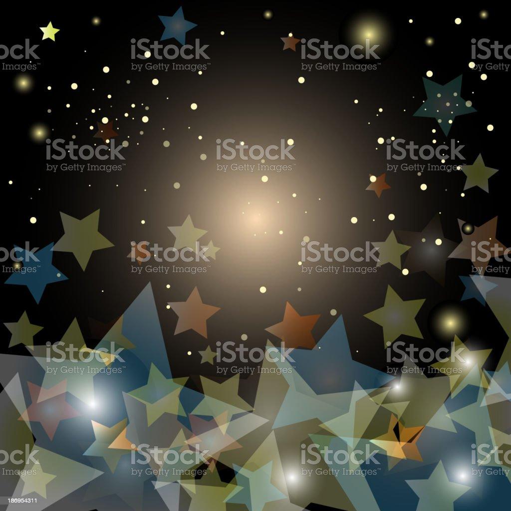 abstract starry night sky - vector illustration royalty-free stock vector art
