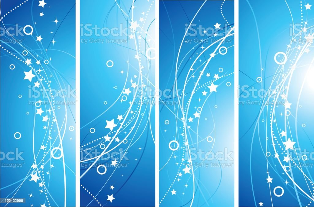 Abstract stripes banners royalty-free stock vector art