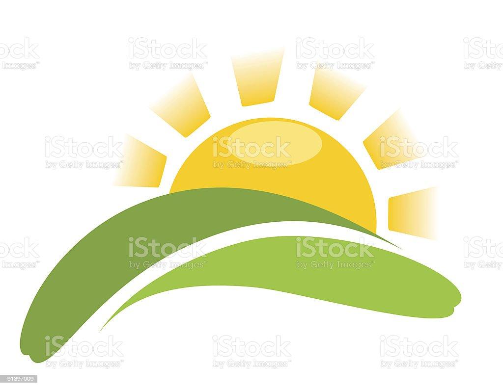 abstract sun vector art illustration