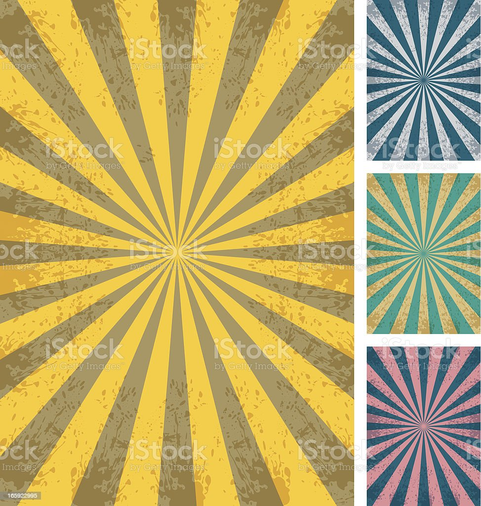 Abstract Sunbeam Background royalty-free stock vector art