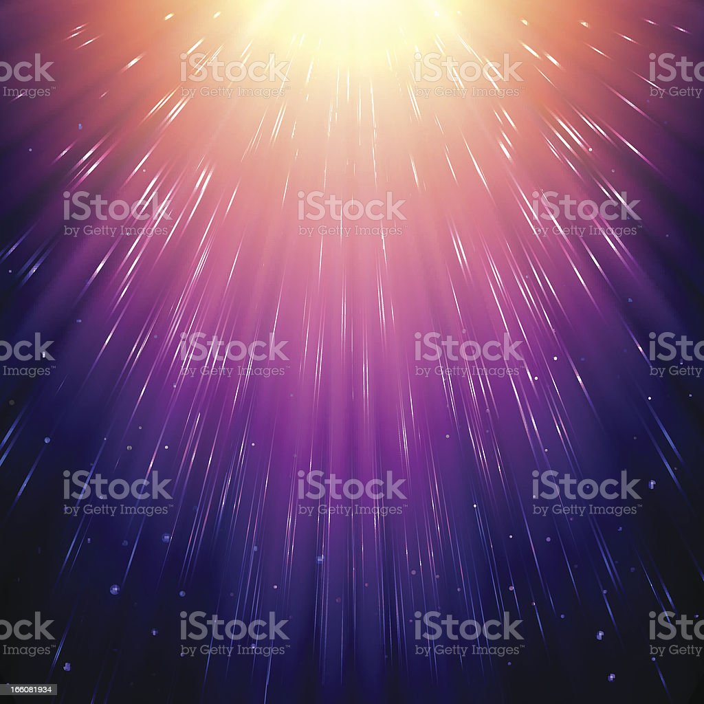 Abstract sunlight in space royalty-free stock vector art