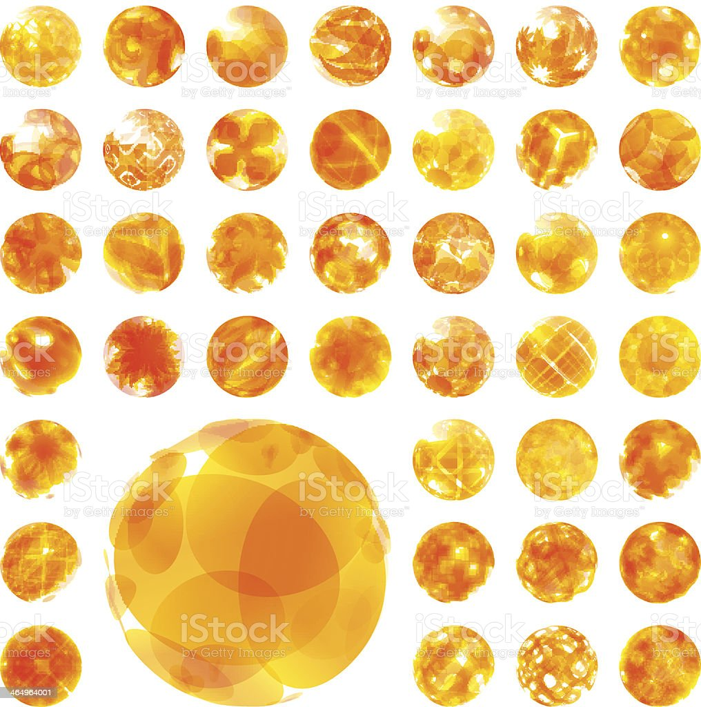 Abstract sunny illustration. vector art illustration