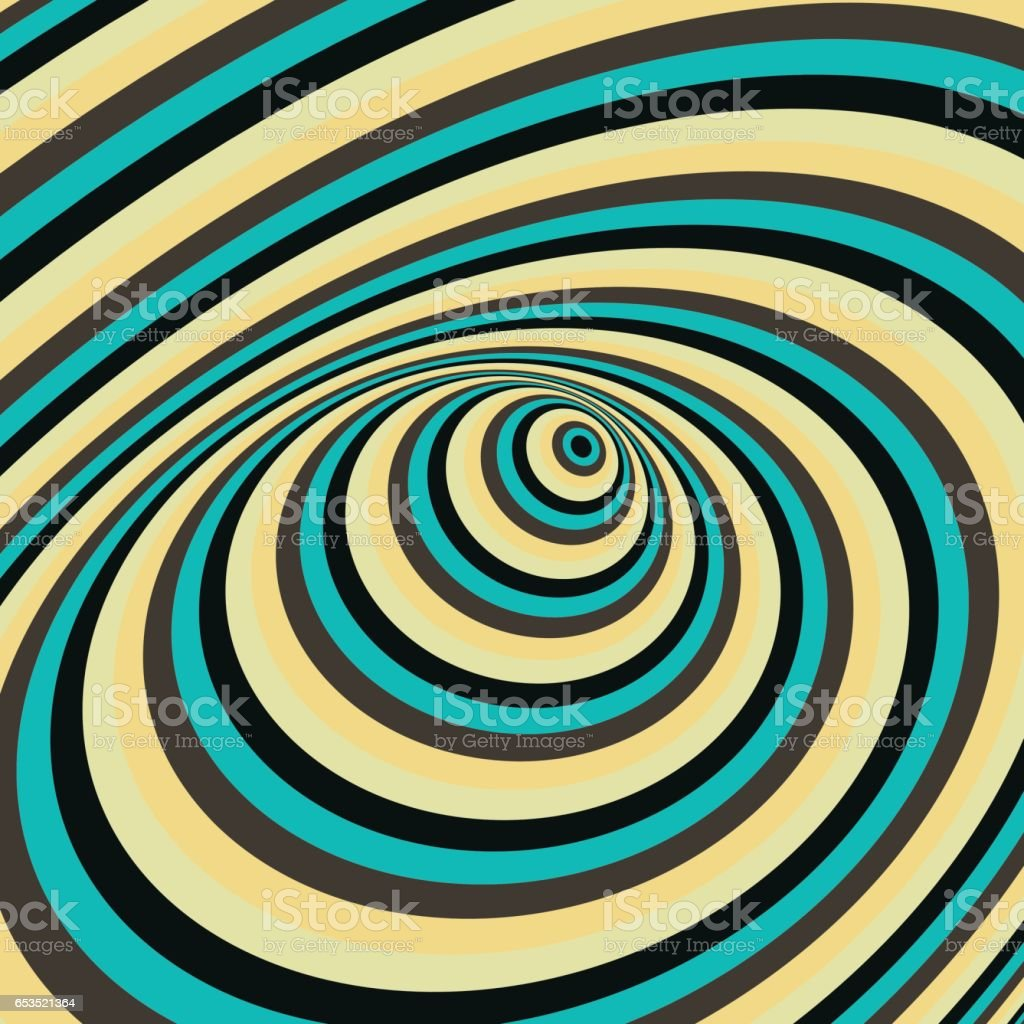 Abstract swirl background. Pattern with optical illusion. vector art illustration