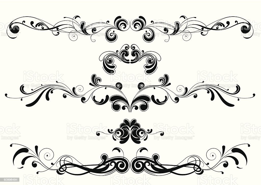 Abstract swirl design royalty-free stock vector art