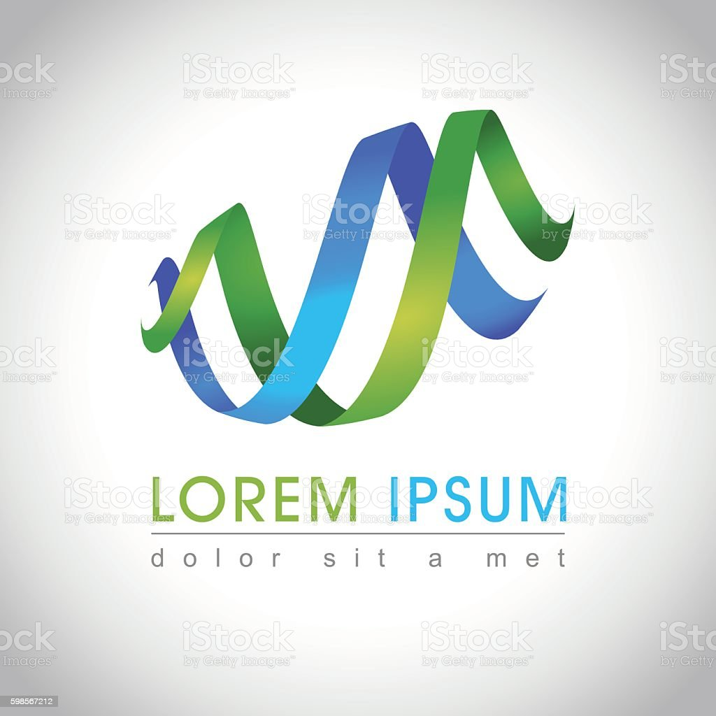 Abstract swirl logo vector art illustration