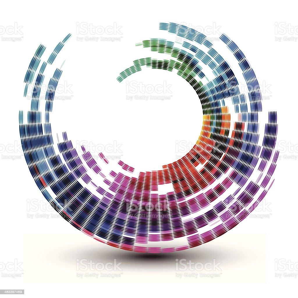 Abstract swirl shape illustration vector art illustration