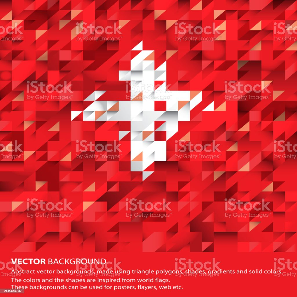 Abstract Swiss Flag, Switzerland Background (Vector Art) vector art illustration