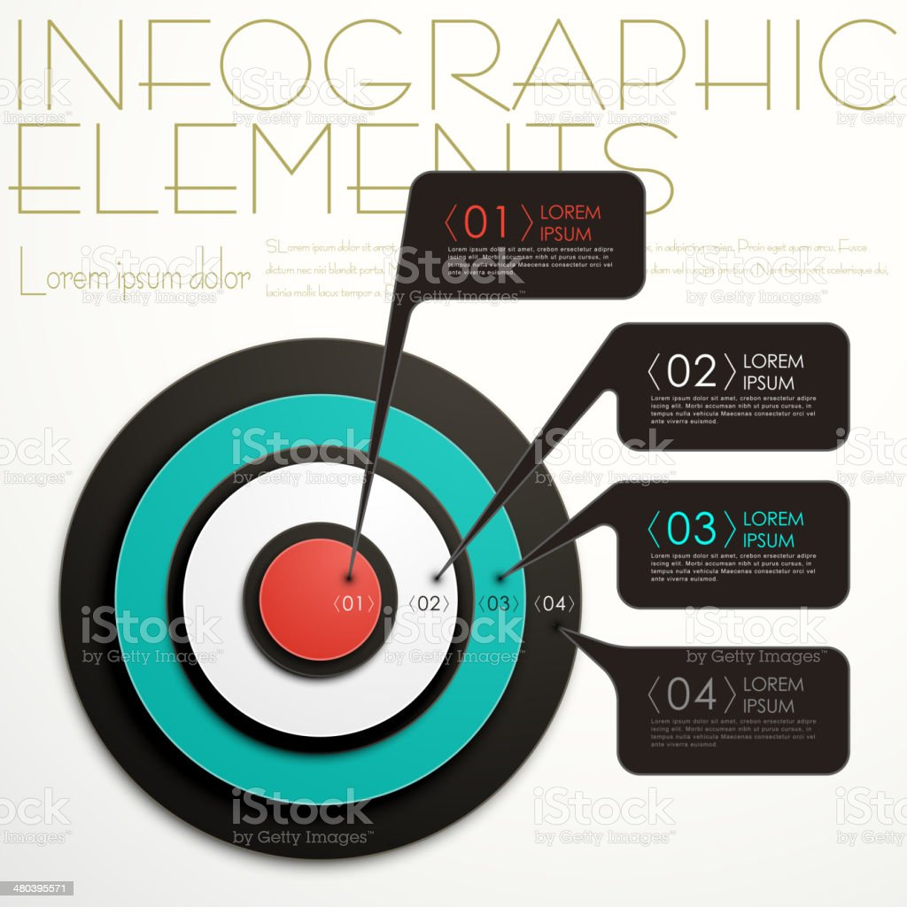 abstract target infographics vector art illustration