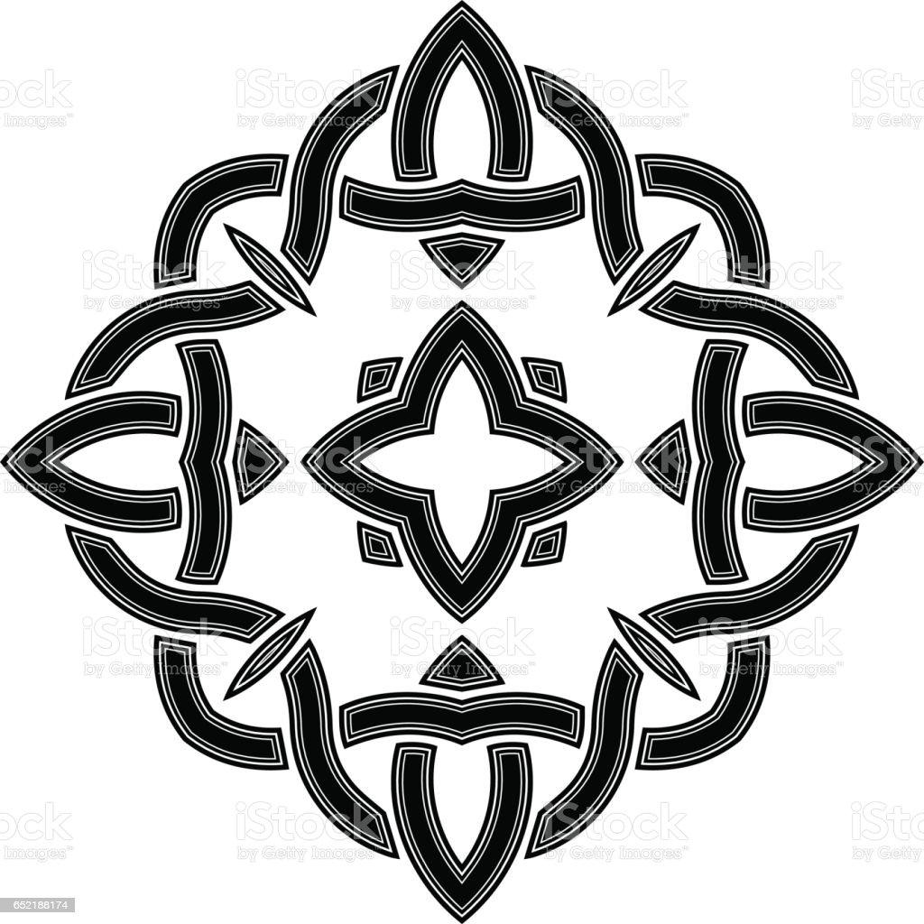 Abstract tattoo, celtic pattern vector art illustration
