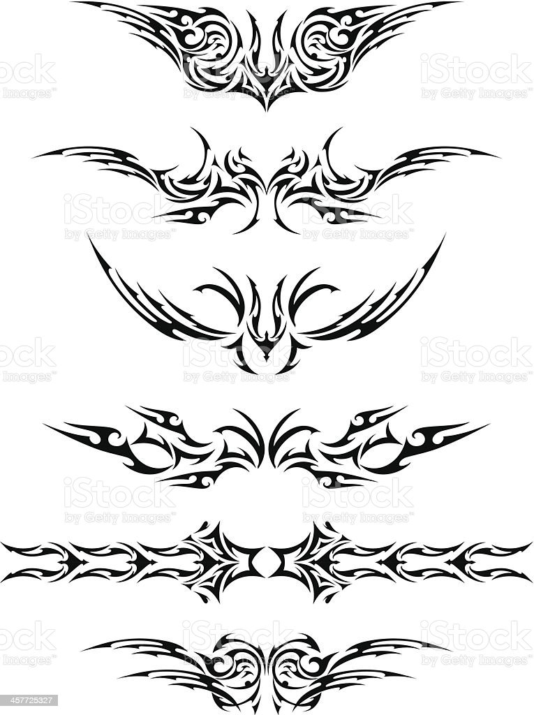 Abstract Tattoo Set vector art illustration
