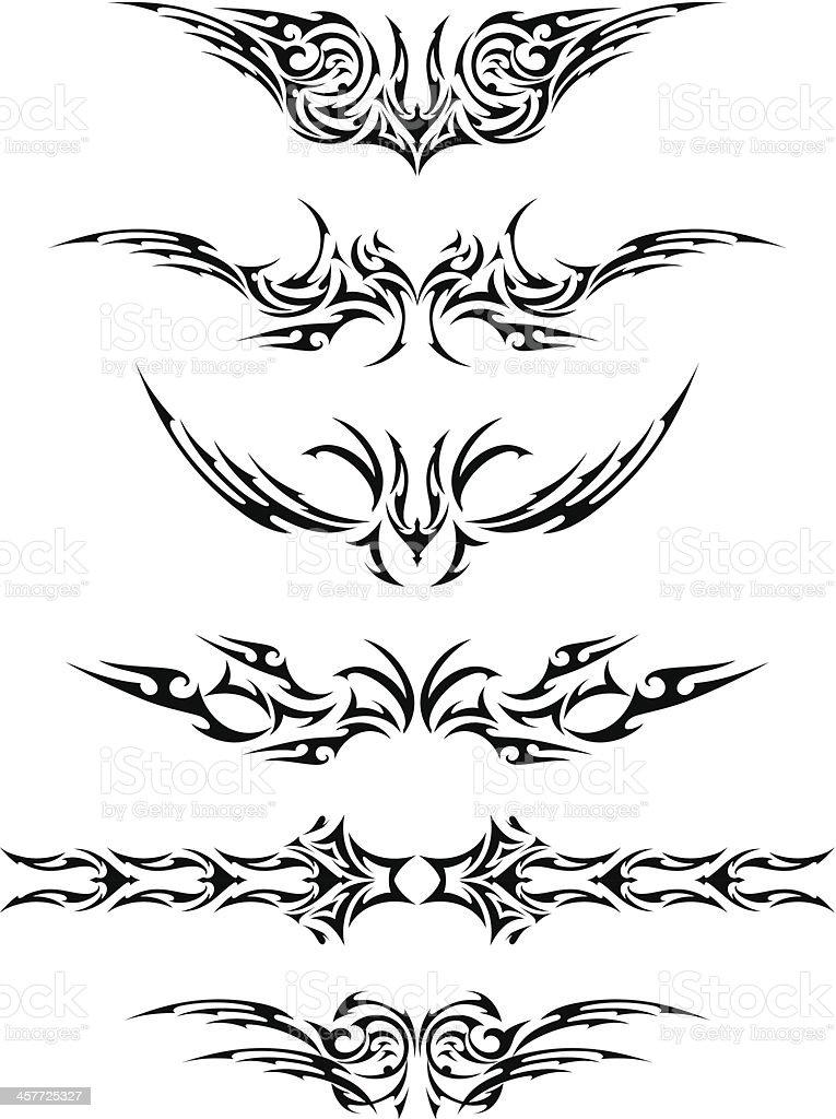 Abstract Tattoo Set vector art illustration