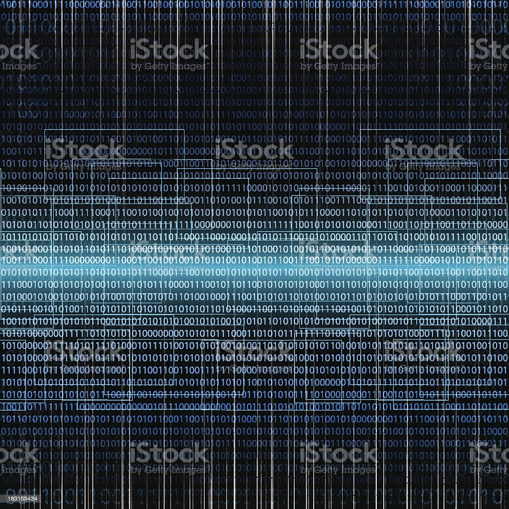 Abstract tech binary background vector art illustration