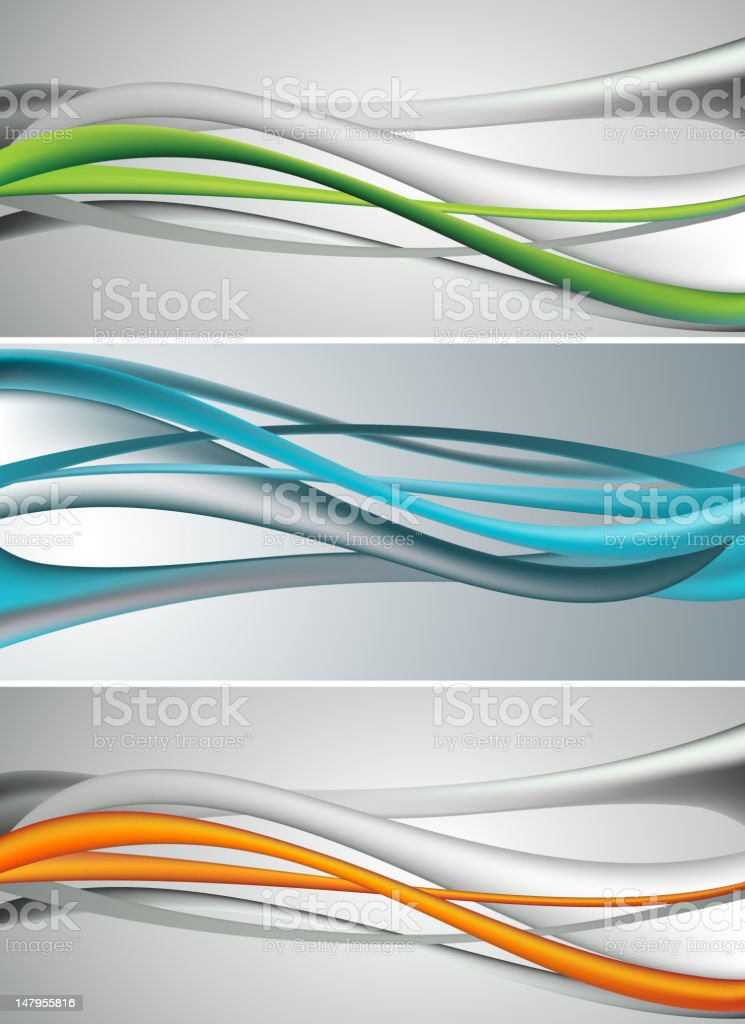 Abstract tech wave banner royalty-free stock vector art