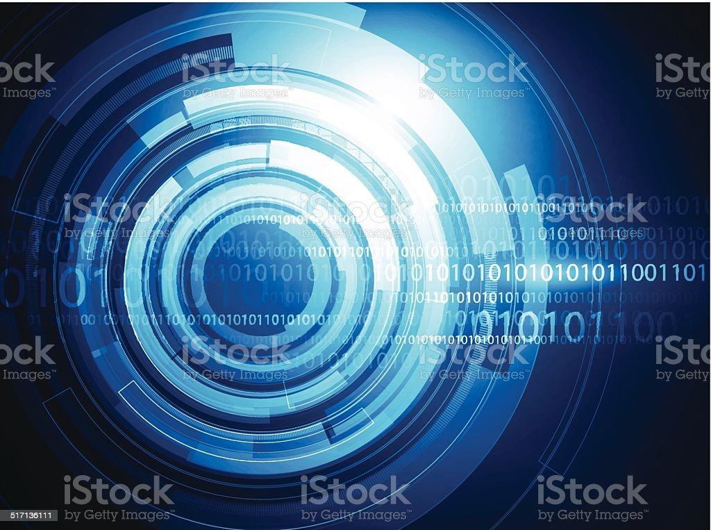 Abstract technical background vector art illustration