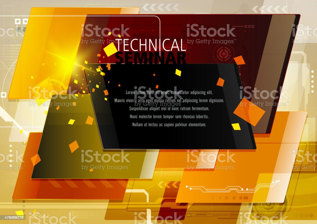 Abstract Technical Background with Copy space royalty-free stock vector art