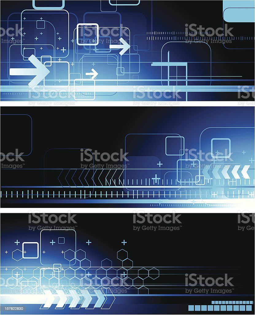 Abstract technical banners royalty-free stock vector art