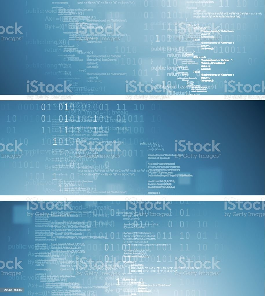 Abstract technical banners vector art illustration