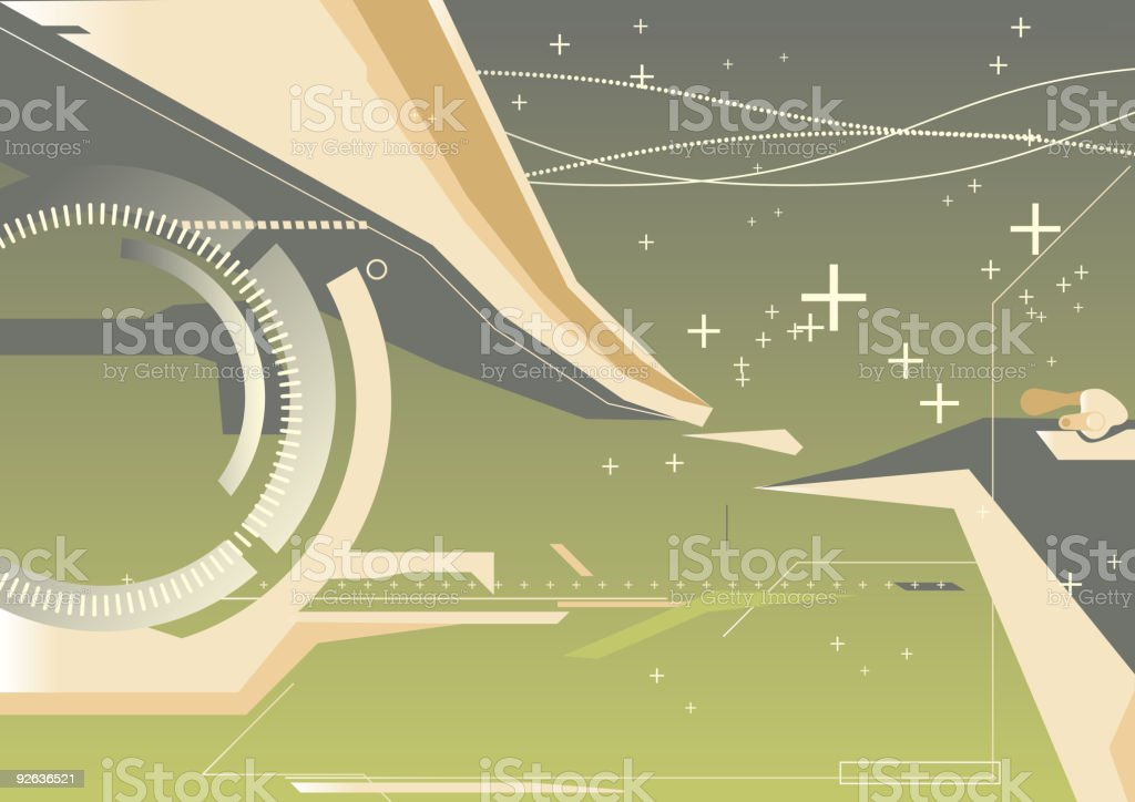 abstract techno background royalty-free stock vector art