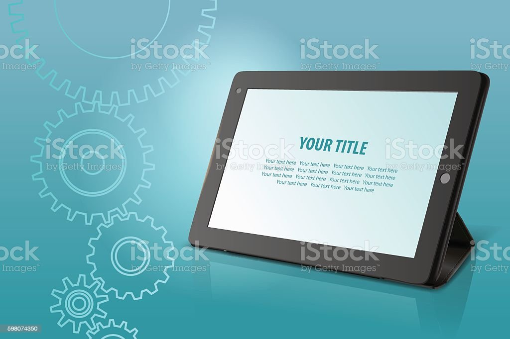 Abstract technological background vector art illustration