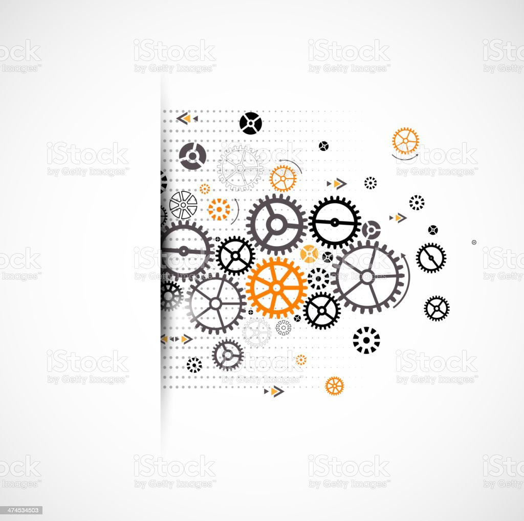 Abstract technology background. Cog wheel theme royalty-free stock vector art
