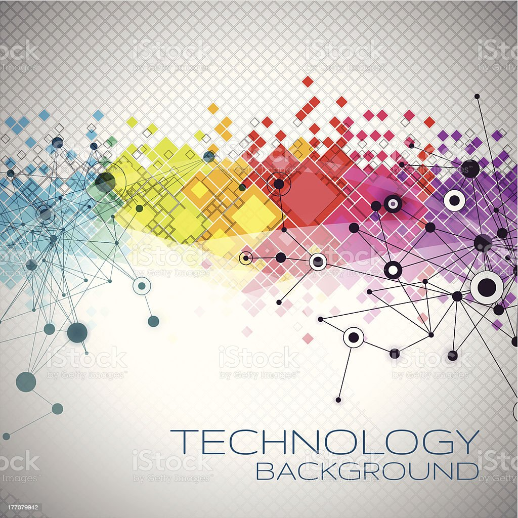 Abstract Technology Background vector art illustration
