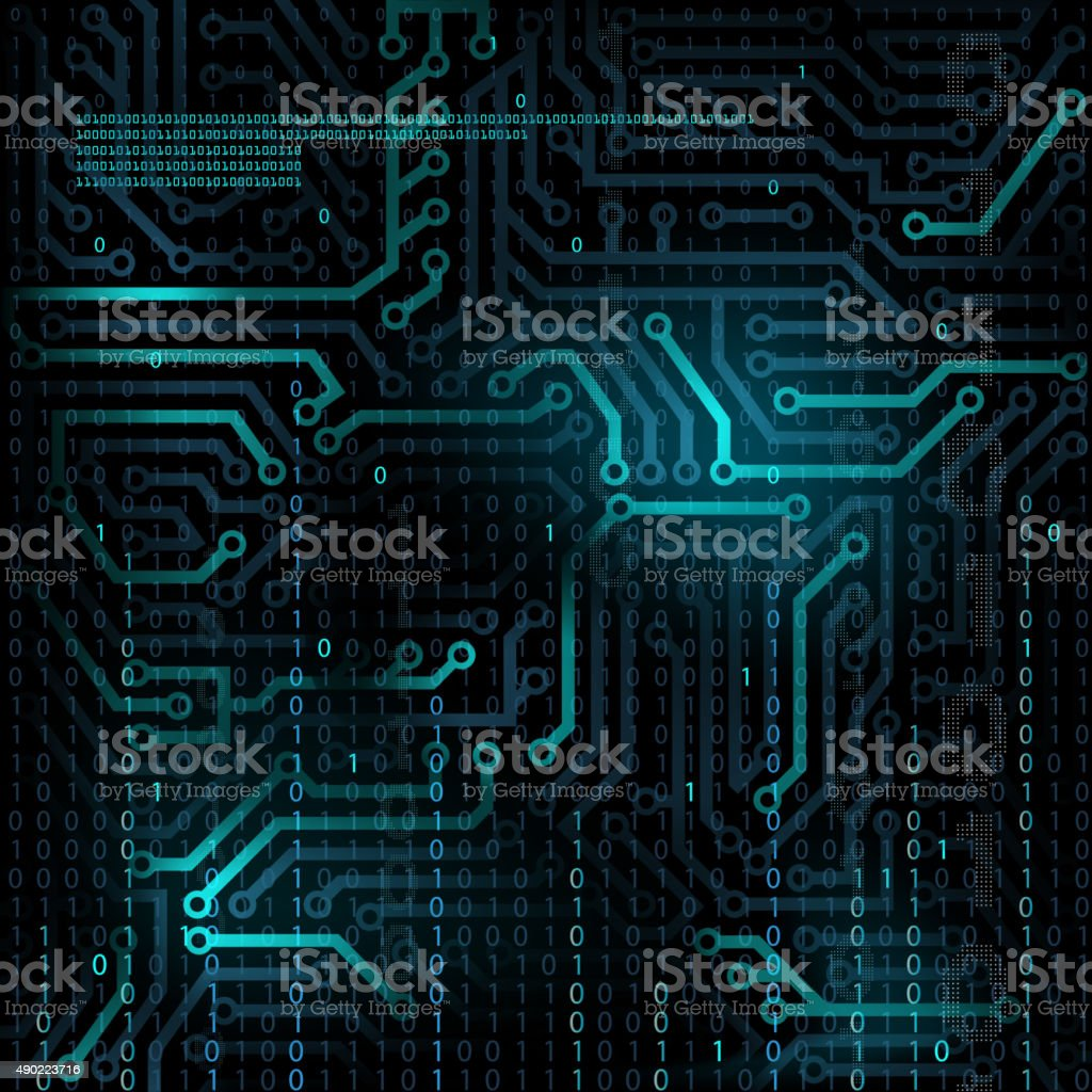 Abstract technology background. vector art illustration