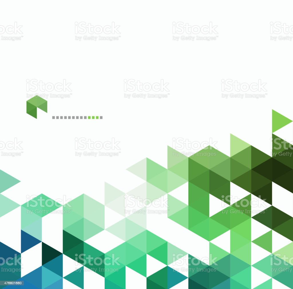 Abstract technology background with color triangle vector art illustration