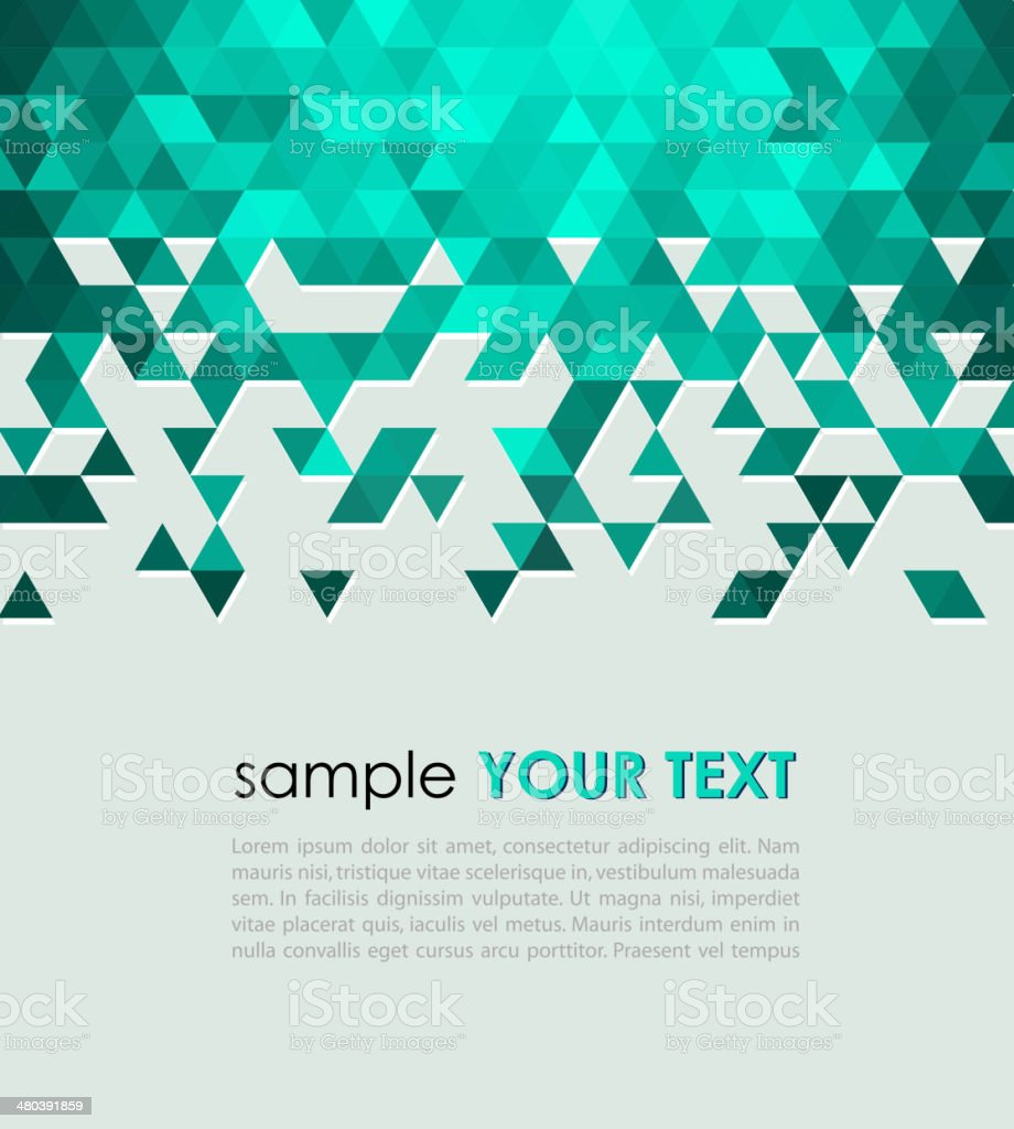 Abstract technology background  with triangle vector art illustration
