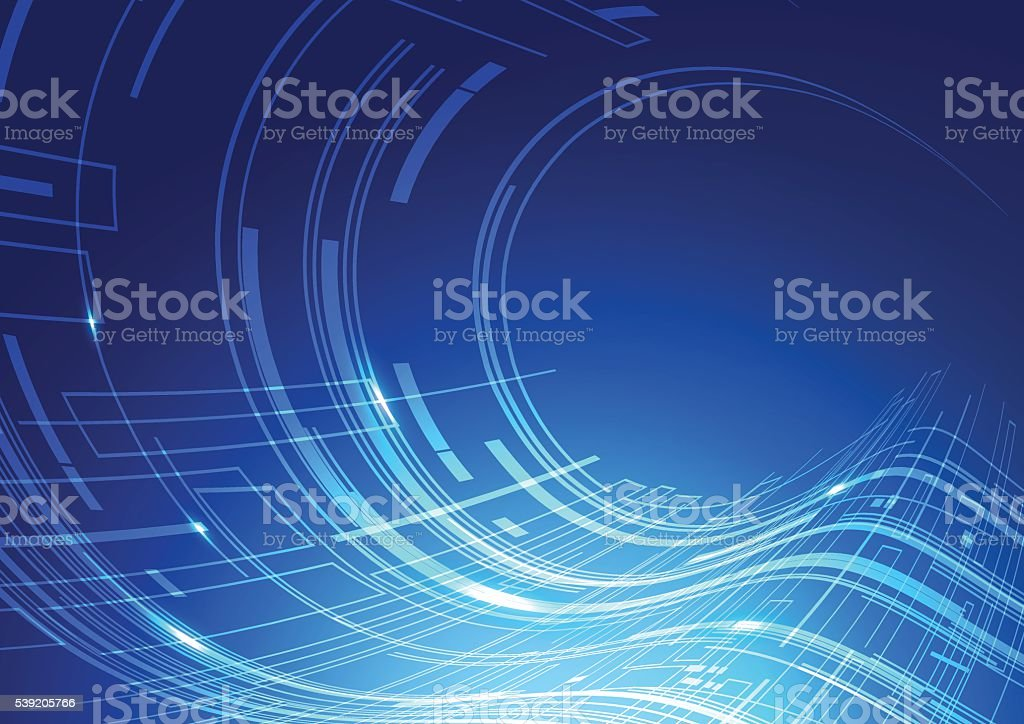 Abstract Technology Blue Background vector art illustration