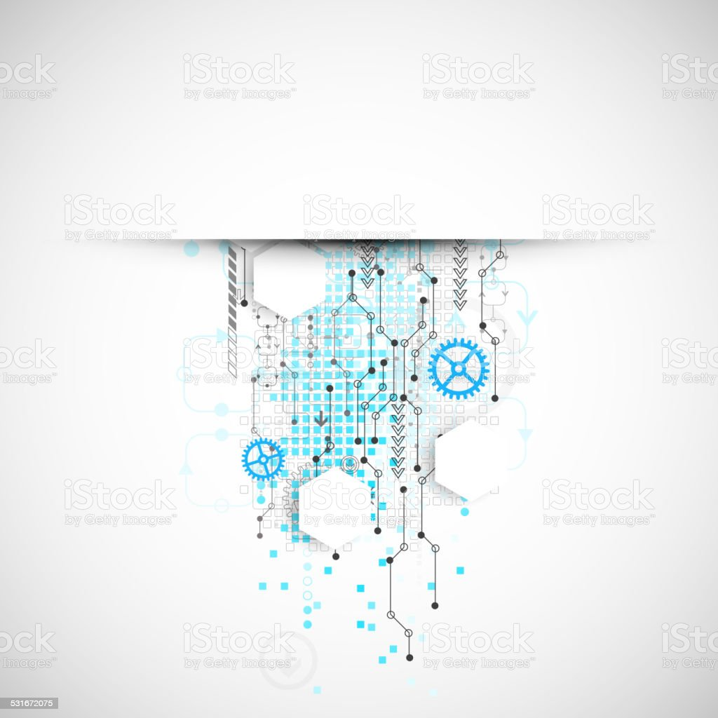 Abstract technology business template background. vector art illustration