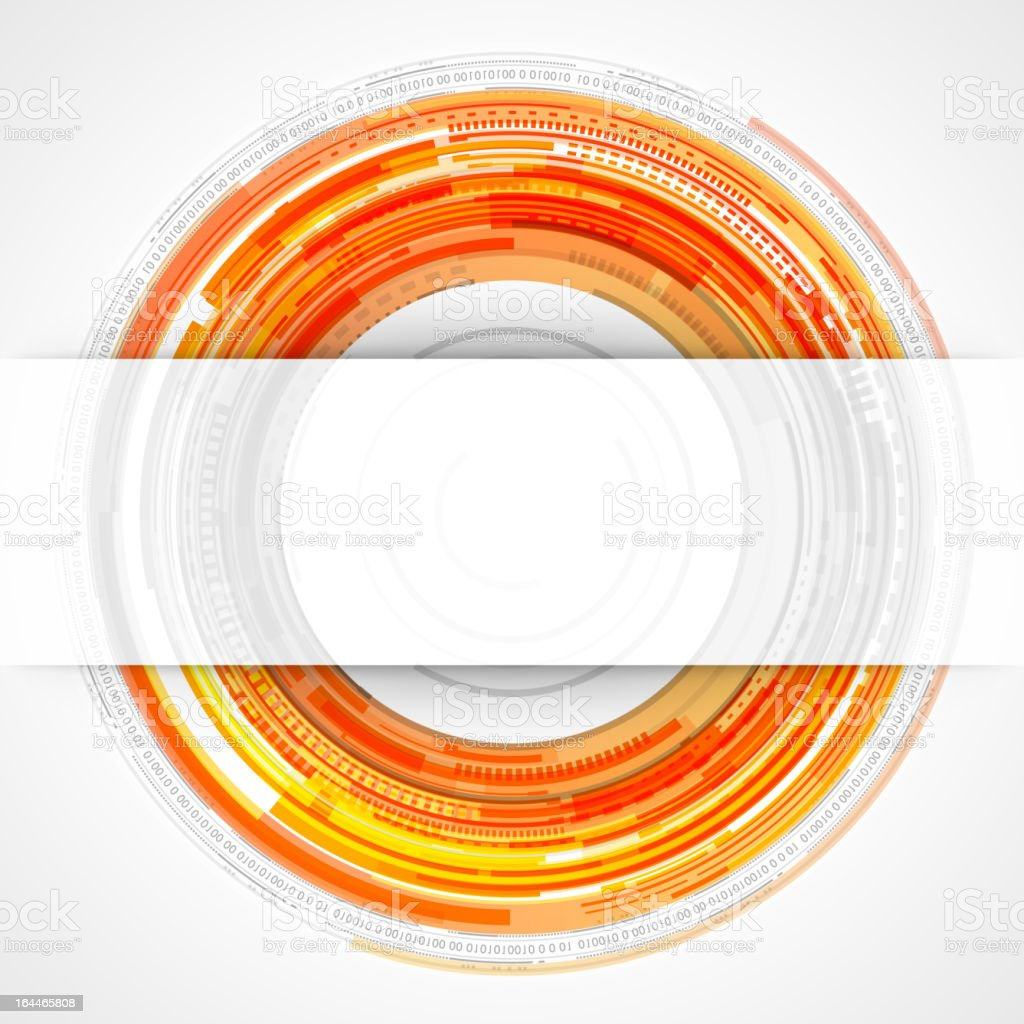 Abstract technology circles and transparent paper royalty-free stock vector art