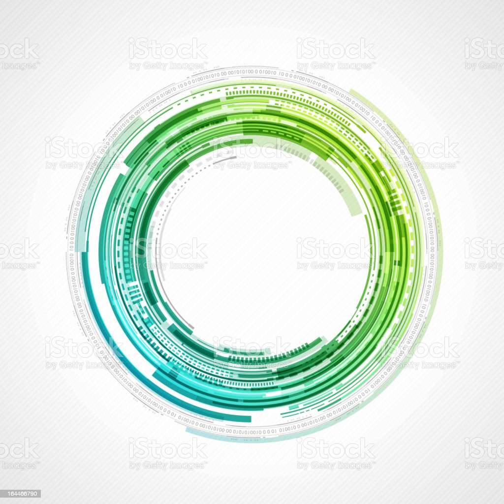 Abstract technology circles background vector art illustration