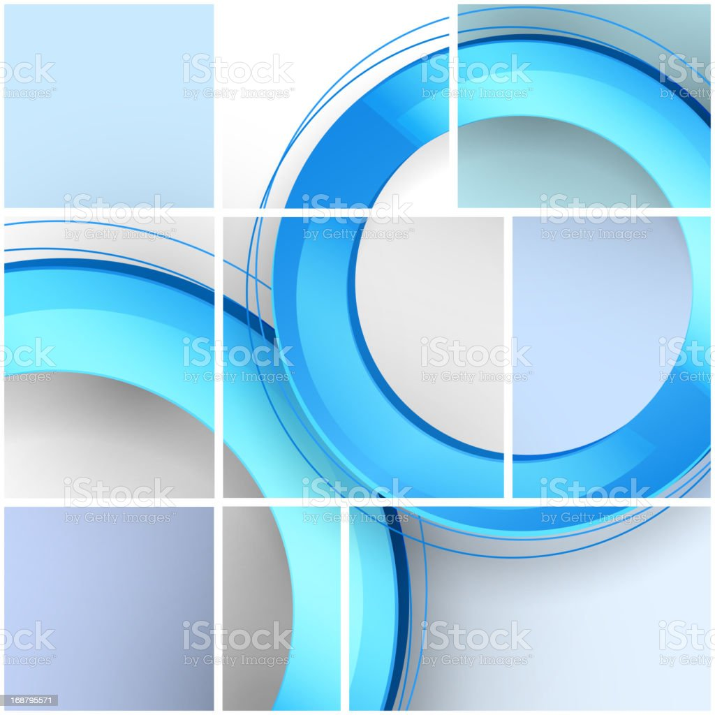 Abstract technology circles, contains transparencies royalty-free stock vector art